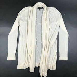 Theory Womens S P Thin Knit Cashmere Cream Open Fr